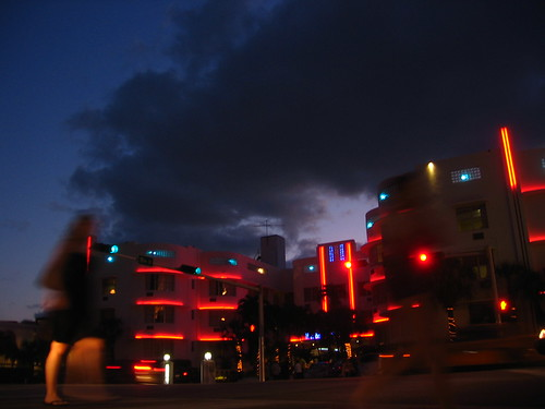 Miami Beach at night