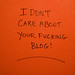 I Don't Care About Your #@$! Blog by Lindsay Beyerstein