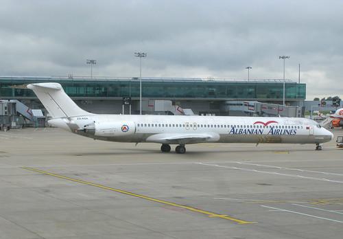 Albanian Airlines ZA-ASA STN