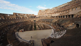 Image of Colosseum near Roma Capitale. trip20170208 rzym roma muzeumwatykańskie colosseum geo:lon=12493033 geo:lat=41889939