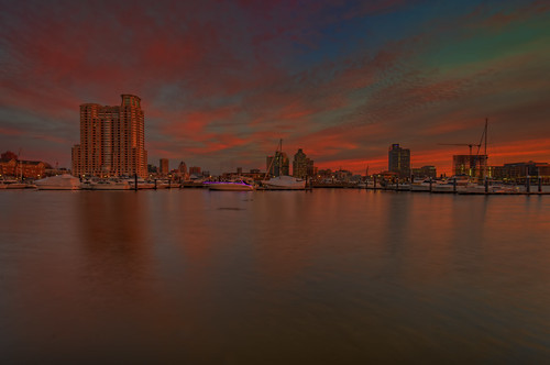 baltimore md maryland sunrise patapscoriver colorful sky clouds twilight dawn bluehour goldenhour hdr highdynamicrange craigfildesfineartamericacom