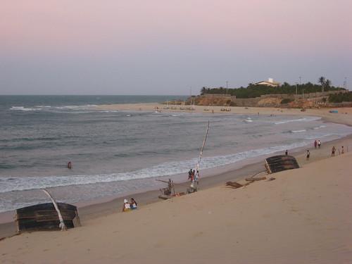 sunset sea praia beach sand dusk ceara iguape views100