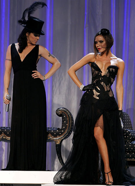 Melaine C and Victoria Beckham