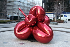 NYC: 7 WTC - Balloon Flower (Red) by wallyg, on Flickr