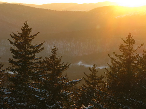 winter sunset snow tree pine vermont allisstatepark broofield canong9 fromfiretower