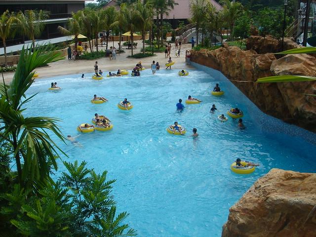At the civil service club bukit batok swimming pools
