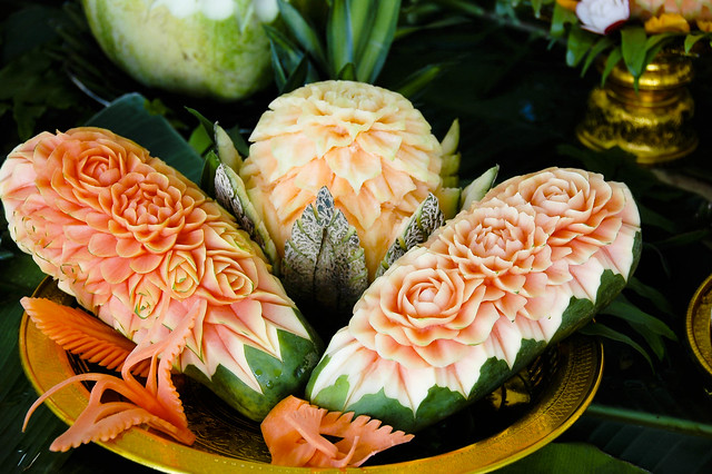 Thai fruit carving flickr photo sharing