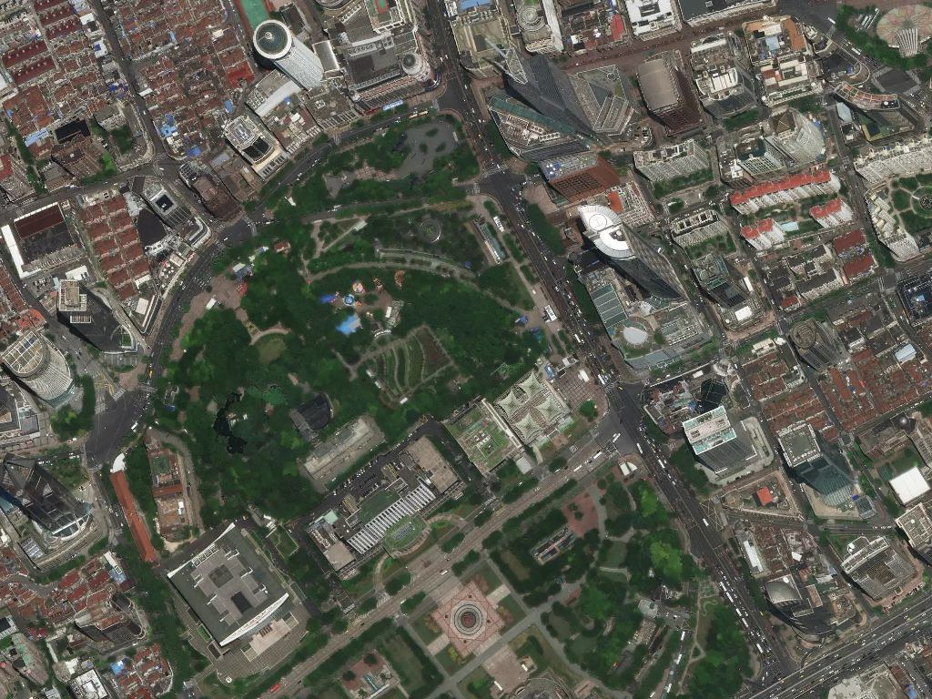 satellite imagery of People's Park