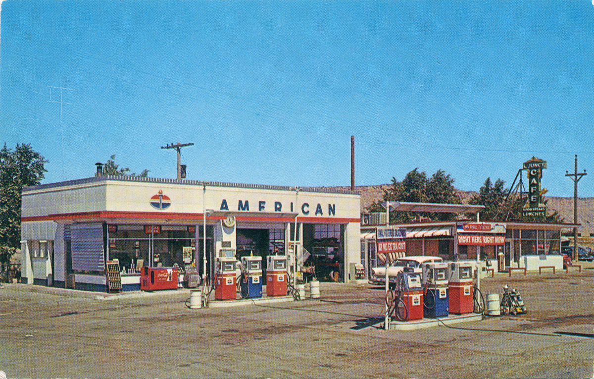 Cash Back Near Me >> American Gas Station, 1950's - a photo on Flickriver