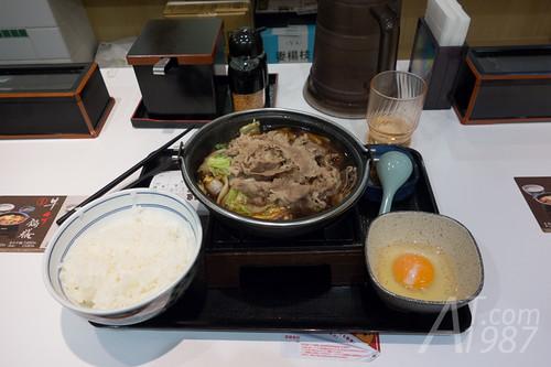 Sukiyaki at Yoshinoya Shibuya