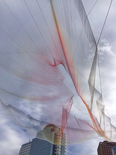 Janet Echelman's art installation for the Vancouver TEDX conference.