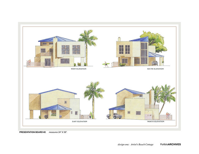 Beach cottage elevations flickr photo sharing for Beach house elevation designs