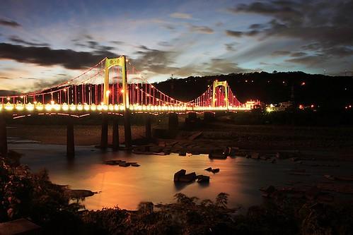 sunset taiwan 桃園 taoyuan 2007 dasi 大溪 大溪橋 dasibridge