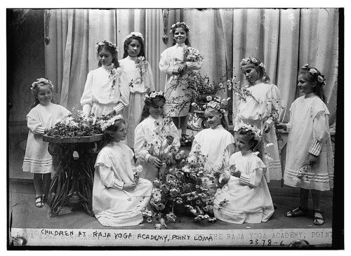 Children at Raja Yoga Academy, Point Loma  (LOC)