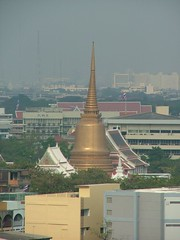 View of Wat Sommanat from Wat Saket