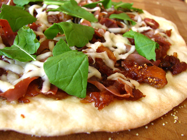 Caramelized Onion, Fig and Prosciutto Pizza with Goat Cheese | Flickr ...