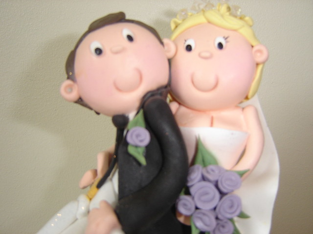 Bride And Groom On Scooter Cake Topper