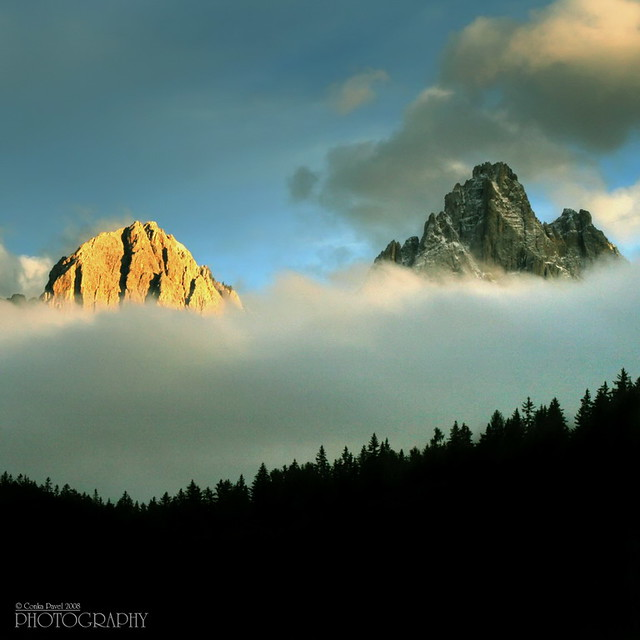 Dolomites in sunset