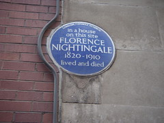 Photo of Florence Nightingale blue plaque