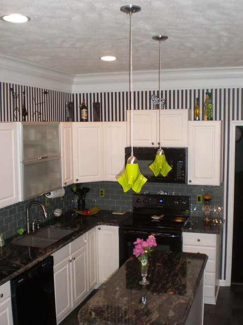 Lime Green Custom Pendant Lights Above Kitchen island  Flickr  Photo
