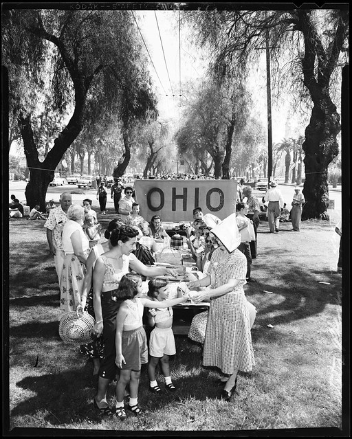 All States picnic, Ontario, California, July 4, 1957