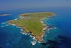澎湖南方四島中,東吉嶼之空照圖。