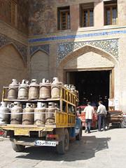 into the grand bazaar, isfahan october 2007