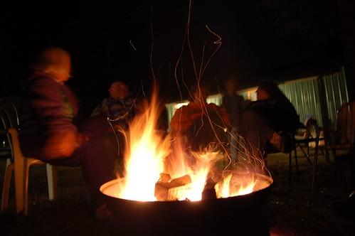 camp mom fire roast wiener terri goosehollow