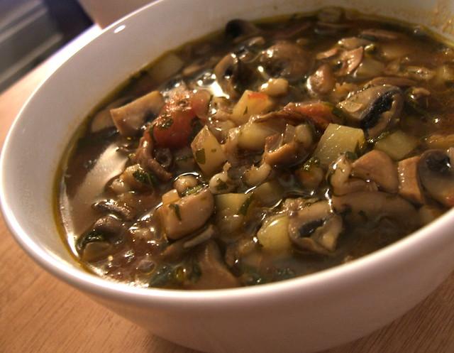 Mushroom barley soup | From the River Café cookbook. | By: WordRidden ...