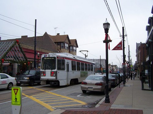 Streetcar in Media Pennsylvania