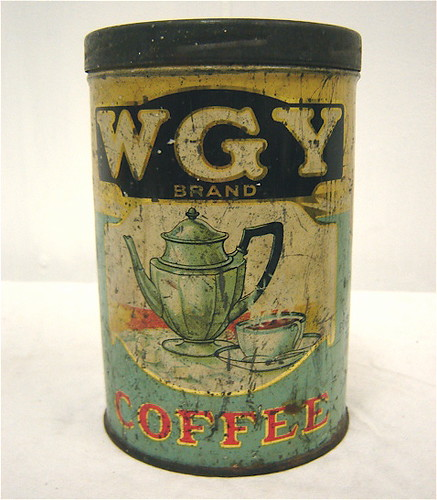 WGY coffee tin