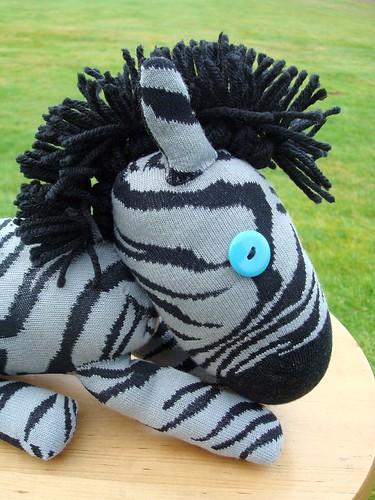 baby zebra sock creature