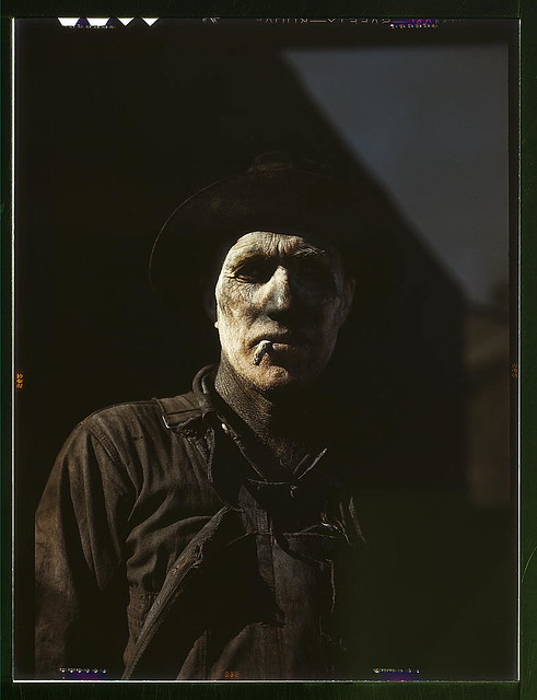 Worker at carbon black plant, Sunray, Texas (LOC)