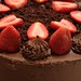 Chocolate Cake and with Strawberries