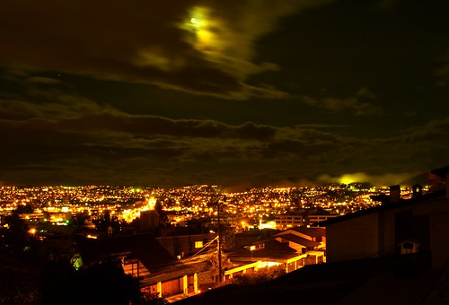night city urban landscape view lights clouds moon sky quito ecuador olympus e500 10faves fernando sanchez fernandosanchez
