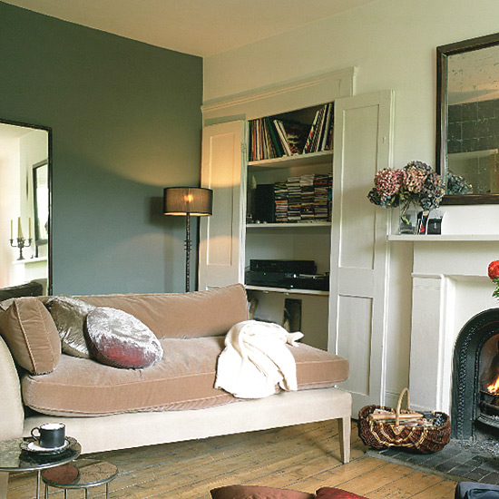 The unsinkable color brown decor8 for Feature wall colours for living room