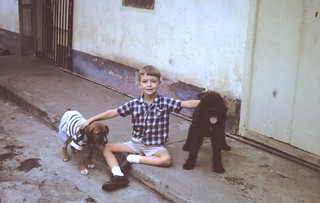 Posing with Dogs - Caracas 1963