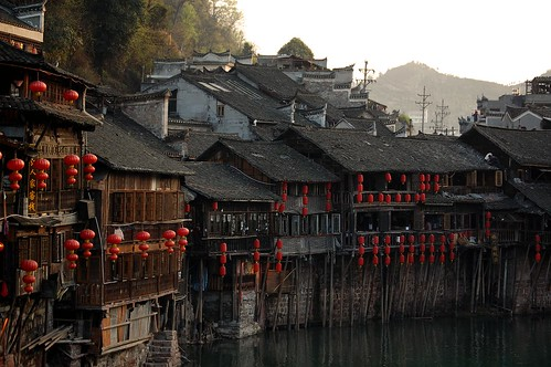 china old city travel sunset color architecture ancient sundown culture fenghuang hunan 旅遊 中國 湖南 travelog 鳳凰