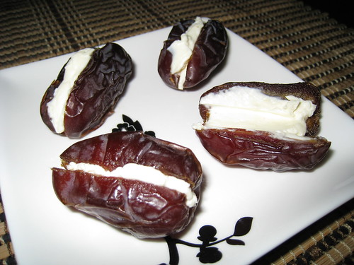 Dates Stuffed with Cream Cheese on Closet Cooking