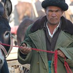 Uighur Man and Donkey - Kashgar, China