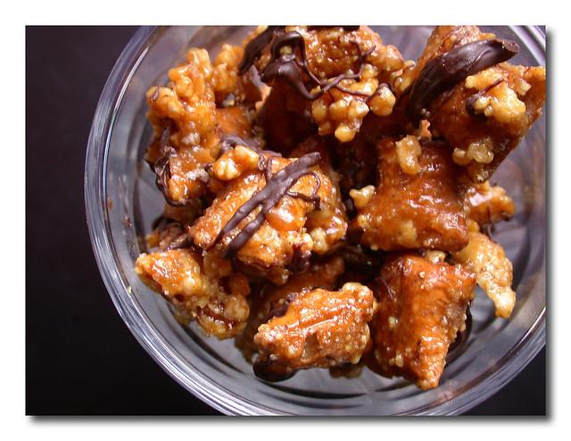 chocolate drizzled peanut butter pretzel praline | Flickr - Photo ...