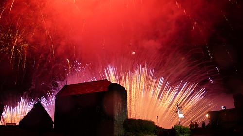 Edinburgh Castle Hogmanay fireworks bring in 2008