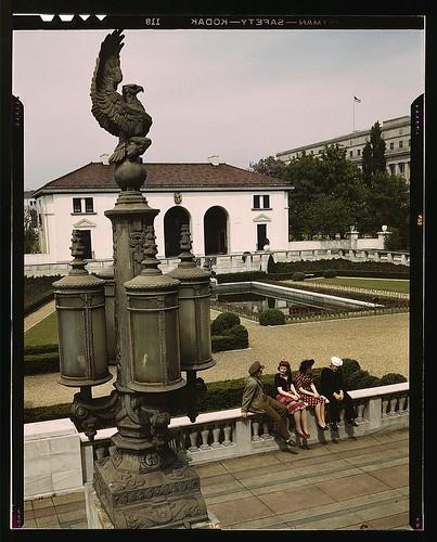 Garden of the Pan American Building, Washington, D.C.  (LOC)