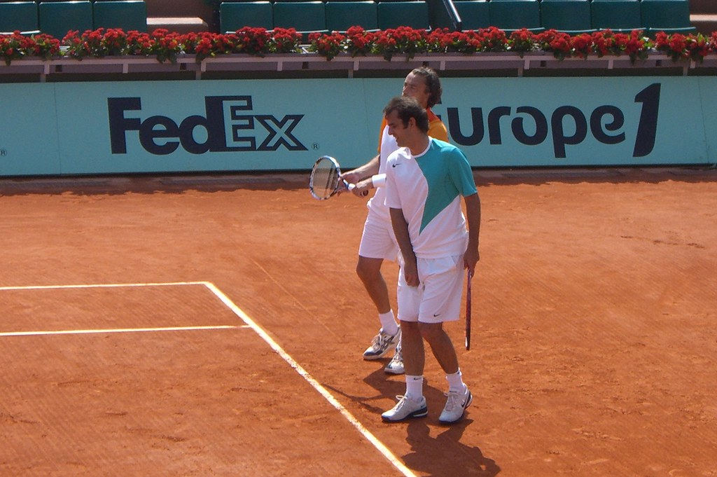 Cedric Pioline and Henri Leconte