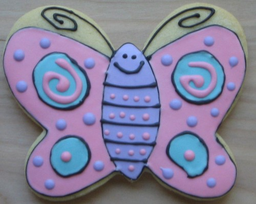 Allegra's butterfly cookie