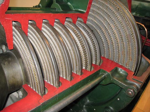 Parsons cross compound steam turbine, Elk Mill:: OS grid SD9006