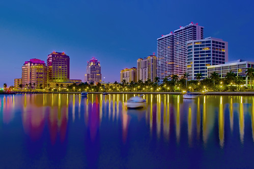 westpalmbeach pambeachcounty city cityscape urban downtown skyline southflorida density centralbusinessdistrict skyscraper building architecture commercialproperty cosmopolitan metro metropolitan metropolis sunshinestate realestate intracoastalwaterway bluehour longexposure palmbeachcounty palmbeach henryflagler