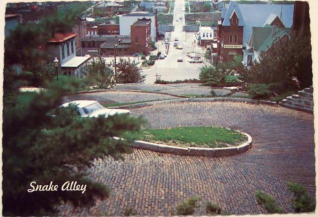 Postcard - Snake Alley, Burlington, Iowa   Flickr - Photo ...