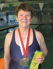 Kathy Broderick shows off her medal haul