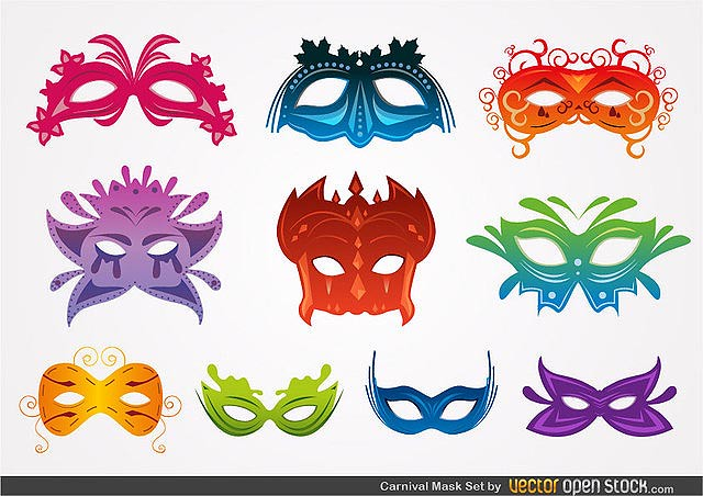 Carnival Mask Set fresh best free vector packs kits